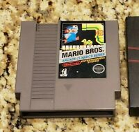 Mario Bros. Arcade Classic Series Nintendo NES With Nintendo Sleeve cleaned test