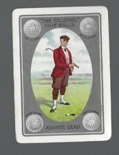 """Swap Playing Cards 1 VINT WIDE ADVT FOR  """"THE COLONEL""""  GOLF  BALLS  GOLFER AD47"""