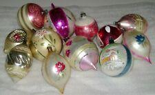 Vintage Hand Painted Glass Christmas Ornaments - Poland Etc.