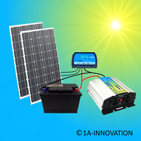 200W Solaranlage Komplettpaket 220V Akku Solarmodul 1000W Steckdose 200 Watt