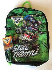 Monster Jam Boys Action Backpack Skull Throttle Grave Digger Sonuva Digger