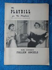 Fallen Angels - Playhouse Theatre Playbill - June 11th, 1956 - Nancy Wlaker
