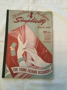 1943 Simplicity Miniature Fashions Sewing Book