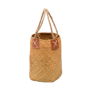 Hemp rope Portable Woven Basket Seagrass Straw Bag Natural Handbag Handmake
