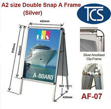 Clip A2 Size Double Snap a Frame/a Board Display Sign Poster Stand