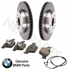 For BMW F10 F12 F13 F06 Front Brake Disc Rotors & Brake Pads & Sensor Kit OES