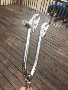 Hutch BMX WINDSTYLER TRICKSTAR FREESTYLE FORK CHROME SURVIVOR 1inch spinner 4130