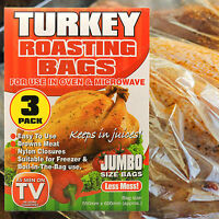 LARGE JUMBO ROASTING BAGS FITS A WHOLE TURKEY BROWNS MEAT Poultry/Chicken183/196