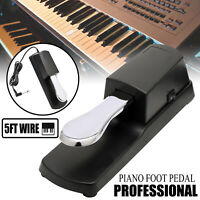 Universal Piano Style Foot Switch Pedal  Sustain Damper For Electronic Keyboard