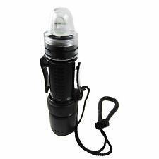 Scuba Diving Mini Strobe Light 1 Watt LED Dive Flashlight Underwater Combo Black