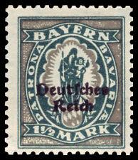 Germany Deutsches Reich 1920 Mi. Nr. 131 1 1/2 M Bavaria Definitive Opt. MH