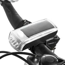 Bicycle Cycling LED Solar Powered USB Rechargeable Front Light Lamp Headlight