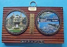 Ancien Souvenir de Vacances Monté Carlo Monaco Thermomètre Porte clés vintage