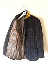 $2050 Men's VELVET ETRO Milano Sport Check Blazer Coat Jacket SZ UK 38 EU 48