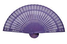 Purple Bridal Fans and Parasols