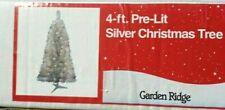 "Silver 48"" Pre Lit Tree 70 Clear Lights New"