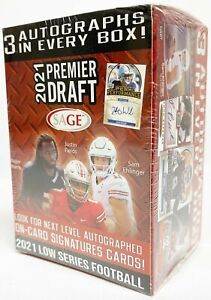 2021 Sage Hit Low Series NFL Football cards Box. BRAND NEW. 3 AUTO'S. WOW