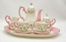 "CHILDREN'S TEA SET -  ""PINK FLORAL GARLAND"" CHILDRENS TEA SET"