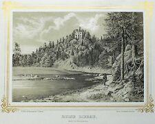 LIEBAU (PÖHL) - Burg Liebau - Könitzer - Tonlithografie 1859