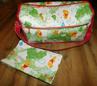 Vintage Winnie The Pooh Disney Baby Diaper Bag w/ Changing Pad ~Hinged ~Vinyl