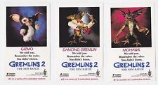 Gremlins 2: The New Batch - Rare original 1990 set of 5x promo decal stickers