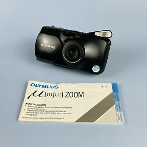 Olympus MJU Zoom Black 35mm Point And Shoot Camera 35-70mm Lens With Manual