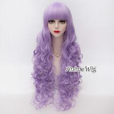 Lolita Purple Long 80CM Curly Fashion Women Girls Cosplay Heat Resistant Wig