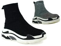 LADIES NEW COMFY PULL ON MID CHUNKY HEEL CHELSEA ANKLE BOOT UK SIZE 3-8