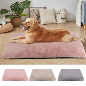 Dog Thick Warm Bed cat Pet Fluffy Comfy Mat Washable Sleeping Winter Mattress