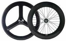 Front 65mm Tri Spokes Rear 88mm Fixed Gear Carbon Wheelset Track Carbon Wheels