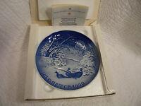 B & G Copenhagen Porcelain Jule After 1970 Plate Made in Denmark in Original Box