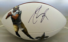 Drew Brees Signed Saints FATHEAD Logo Football JSA