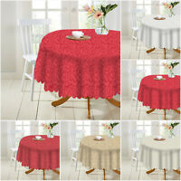 Jacquard Damask Tablecloth Round Table Protector Throw Christmas Party Tableware