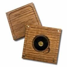 1/2 Gram .9999 Fine Gold Round in a Capsule in  Box - Four Leaf Clover - BU