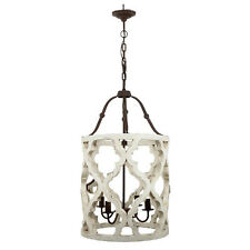"Jolette Wood-Metal Chandelier 19""x33.5"" - 40116"