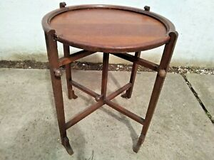 """ANTIQUE VINTAGE BRITISH MADE OAK """"REVERTABLE"""" ROUND OCCASIONAL / CARD TABLE"""