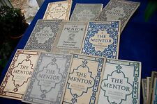 Lot of 10 THE MENTOR mail-order periodicals varied subjects w/ prints 1913-19