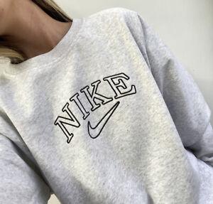 Vintage Inspired Nike Swoosh Sweatshirt Sweater Crewneck jumper