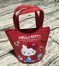 Hello Kitty Mini Coin Bag Cute Red Gift Girl Hang Bucket Limited Rare Lovely New