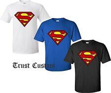 Superman Distressed DC Comics Logo Shield T-Shirt Superhero multicolor S - 4XL
