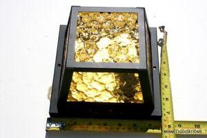 American Lantern 185WB Light Fixture Flush Mount Black Base Textured Amber Glass