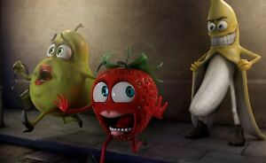 Abstract Funny Fruit - Rude Cartoon Adults Large Poster / Canvas Pictures