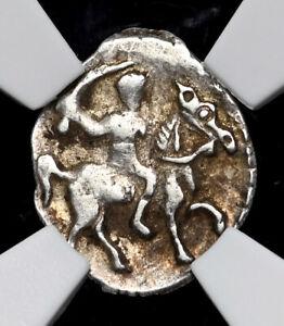"""RUSSIA. Ivan IV """"The Terrible"""", 1533-1584. Silver Denga, NGC AU53"""