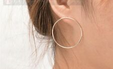 Fashion Earring Boho Festival Party Boutique Silver Ring Hoop Geo Front Luxury