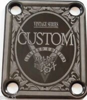 NECK PLATE - Custom - Limited Ed- Vintage Series - black - pour guitare & basse