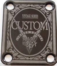 NECK PLATE - Custom - Limited Ed- Vintage Series - black - pour guitare & basse