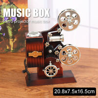 Vintage Mini Retro Projector Music Box Craft Home Table Decoration Birthday Gift