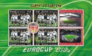 St. Vincent 2008 - SC# 3623 Eurocup Germany, Soccer - Sheet of 6 Stamps - MNH