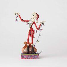 Jim Shore Disney Traditions by Enesco Santa Jack with Christmas Lights Figurine