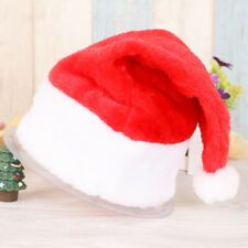 Christmas Party Thickened Santa Hat Velvet Red And White Cap for Santa Claus Cos